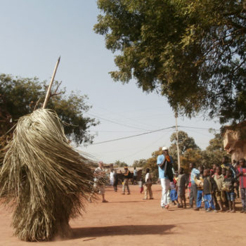 A kumpoo a local mythical figure, dancing