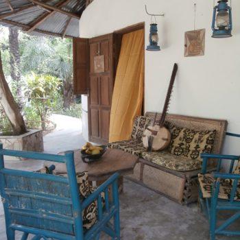 kora on the verandah