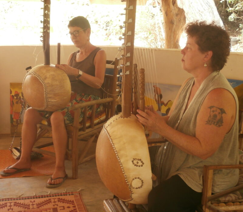 Two kora students practicing